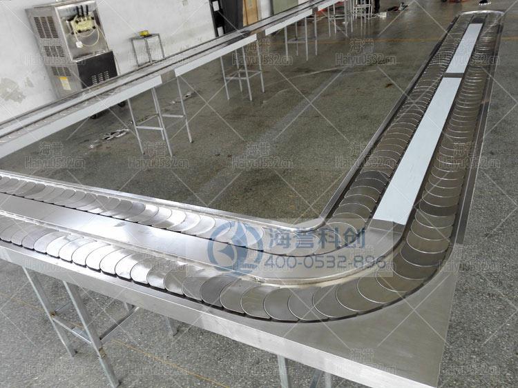 U型不锈钢回转小火锅设备现场生产图1